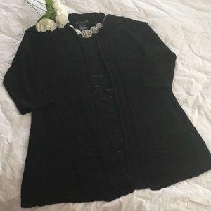 Beautiful sweater knit black cardigan